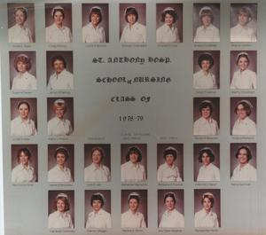 Primary view of object titled 'St. Anthony School of Nursing Class of 1979'.