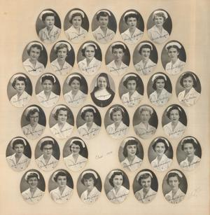 Primary view of object titled 'St. Anthony School of Nursing Class of 1954'.