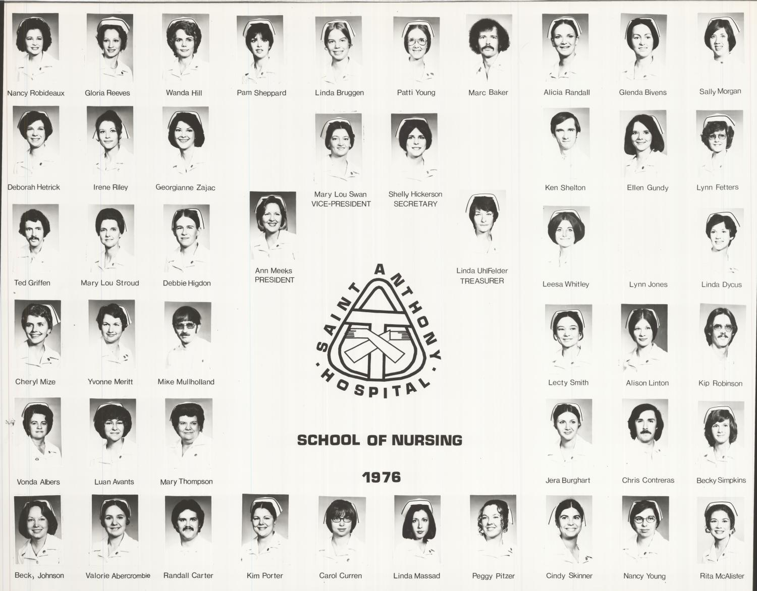 St. Anthony School of Nursing Class of 1976                                                                                                      [Sequence #]: 1 of 1