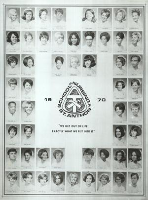 Primary view of St. Anthony School of Nursing Class of 1970