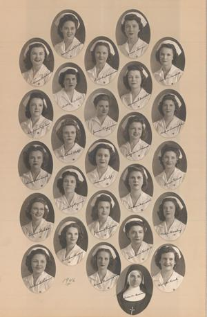 Primary view of object titled 'St. Anthony School of Nursing Class of 1946'.