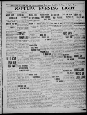Primary view of Sapulpa Evening Light (Sapulpa, Okla.), Vol. 4, No. 160, Ed. 1 Friday, May 12, 1911