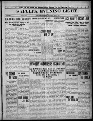 Primary view of Sapulpa Evening Light (Sapulpa, Okla.), Vol. 4, No. 229, Ed. 1 Wednesday, August 23, 1911
