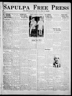 Primary view of object titled 'Sapulpa Free Press (Sapulpa, Okla.), Vol. 2, No. 53, Ed. 1 Friday, February 9, 1934'.