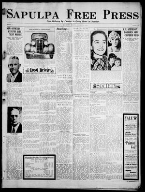 Primary view of Sapulpa Free Press (Sapulpa, Okla.), Vol. 3, No. 45, Ed. 1 Friday, January 4, 1935
