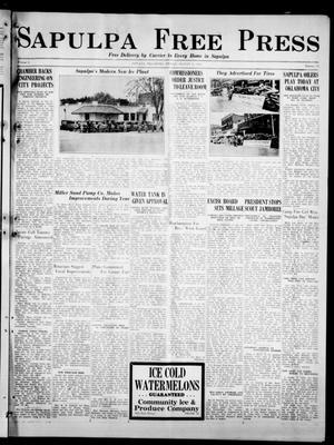 Primary view of Sapulpa Free Press (Sapulpa, Okla.), Vol. 4, No. 24, Ed. 1 Friday, August 9, 1935