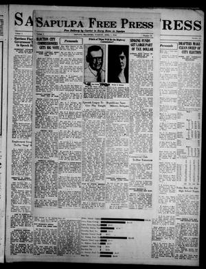 Primary view of Sapulpa Free Press (Sapulpa, Okla.), Vol. 1, No. 11, Ed. 1 Tuesday, April 5, 1932