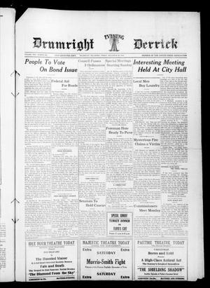 Primary view of object titled 'Drumright Evening Derrick (Drumright, Okla.), Vol. 2, No. 298, Ed. 1 Friday, December 29, 1916'.