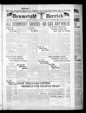 Primary view of object titled 'Drumright Evening Derrick (Drumright, Okla.), Vol. 3, No. 279, Ed. 1 Saturday, December 8, 1917'.