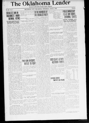 Primary view of object titled 'The Oklahoma Leader (Oklahoma City, Okla.), Vol. 4, No. 50, Ed. 1 Thursday, June 6, 1918'.