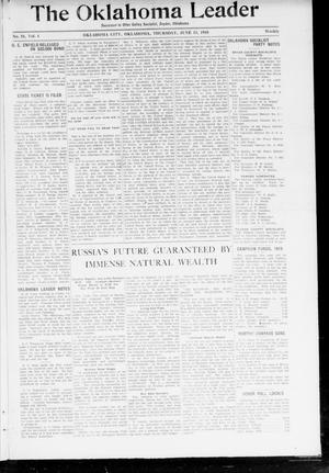 Primary view of object titled 'The Oklahoma Leader (Oklahoma City, Okla.), Vol. 4, No. 51, Ed. 1 Thursday, June 13, 1918'.