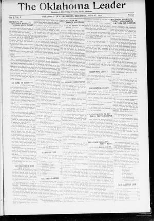 Primary view of object titled 'The Oklahoma Leader (Oklahoma City, Okla.), Vol. 5, No. 1, Ed. 1 Thursday, June 27, 1918'.