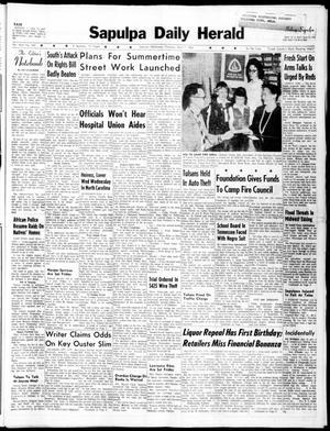 Primary view of Sapulpa Daily Herald (Sapulpa, Okla.), Vol. 45, No. 185, Ed. 1 Thursday, April 7, 1960