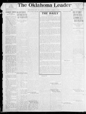 Primary view of object titled 'The Oklahoma Leader (Oklahoma City, Okla.), Vol. 5, No. 37, Ed. 1 Saturday, March 8, 1919'.
