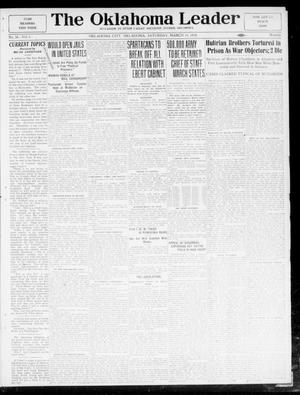 Primary view of object titled 'The Oklahoma Leader (Oklahoma City, Okla.), Vol. 5, No. 38, Ed. 1 Saturday, March 15, 1919'.