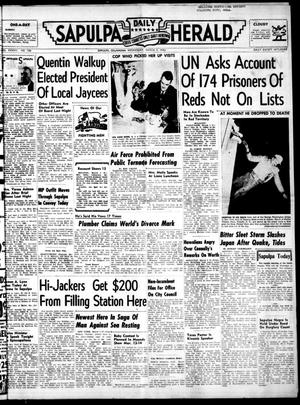 Primary view of Sapulpa Daily Herald (Sapulpa, Okla.), Vol. 37, No. 156, Ed. 1 Wednesday, March 5, 1952