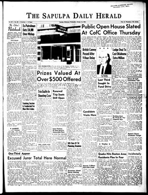 Primary view of The Sapulpa Daily Herald (Sapulpa, Okla.), Vol. 49, No. 38, Ed. 1 Wednesday, October 16, 1963