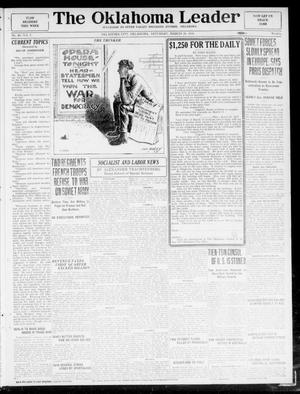 Primary view of object titled 'The Oklahoma Leader (Oklahoma City, Okla.), Vol. 5, No. 40, Ed. 1 Saturday, March 29, 1919'.