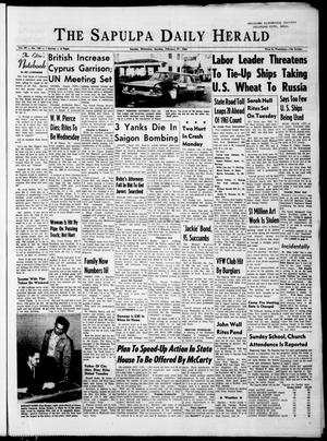 Primary view of The Sapulpa Daily Herald (Sapulpa, Okla.), Vol. 49, No. 144, Ed. 1 Monday, February 17, 1964