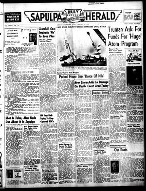 Primary view of Sapulpa Daily Herald (Sapulpa, Okla.), Vol. 37, No. 116, Ed. 1 Friday, January 18, 1952