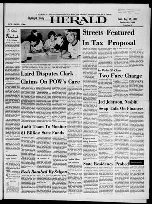 Primary view of Sapulpa Daily Herald (Sapulpa, Okla.), Vol. 58, No. 299, Ed. 1 Tuesday, August 15, 1972