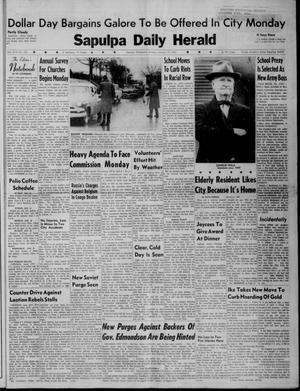 Primary view of Sapulpa Daily Herald (Sapulpa, Okla.), Vol. 46, No. 105, Ed. 1 Sunday, January 15, 1961