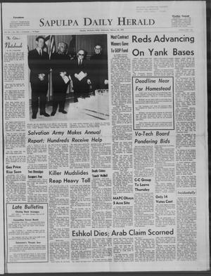 Primary view of Sapulpa Daily Herald (Sapulpa, Okla.), Vol. 54, No. 153, Ed. 1 Wednesday, February 26, 1969