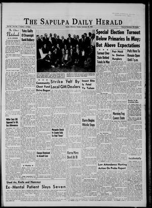 Primary view of The Sapulpa Daily Herald (Sapulpa, Okla.), Vol. 50, No. 24, Ed. 1 Tuesday, September 29, 1964