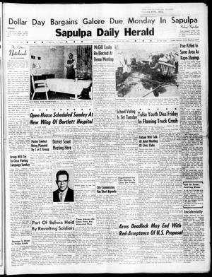 Primary view of object titled 'Sapulpa Daily Herald (Sapulpa, Okla.), Vol. 45, No. 169, Ed. 1 Sunday, March 20, 1960'.