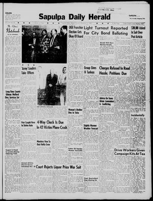 Primary view of Sapulpa Daily Herald (Sapulpa, Okla.), Vol. 45, No. 66, Ed. 1 Tuesday, November 17, 1959