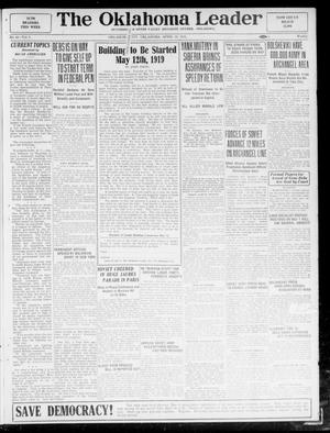 Primary view of object titled 'The Oklahoma Leader (Oklahoma City, Okla.), Vol. 5, No. 43, Ed. 1 Saturday, April 19, 1919'.