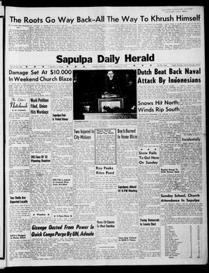 Primary view of Sapulpa Daily Herald (Sapulpa, Okla.), Vol. 47, No. 106, Ed. 1 Monday, January 15, 1962