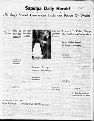 Primary view of Sapulpa Daily Herald (Sapulpa, Okla.), Vol. 47, No. 67, Ed. 1 Tuesday, November 28, 1961