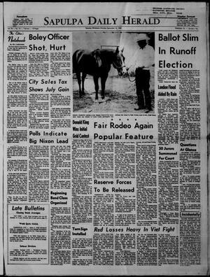 Primary view of Sapulpa Daily Herald (Sapulpa, Okla.), Vol. 54, No. 14, Ed. 1 Monday, September 16, 1968