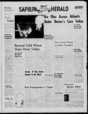 Primary view of Sapulpa Daily Herald (Sapulpa, Okla.), Vol. 43, No. 88, Ed. 1 Friday, December 13, 1957