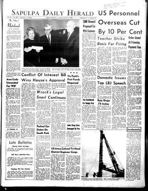 Primary view of Sapulpa Daily Herald (Sapulpa, Okla.), Vol. 53, No. 108, Ed. 1 Thursday, January 18, 1968