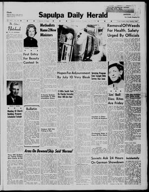 Primary view of Sapulpa Daily Herald (Sapulpa, Okla.), Vol. 44, No. 246, Ed. 1 Thursday, June 18, 1959
