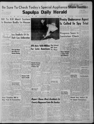 Primary view of Sapulpa Daily Herald (Sapulpa, Okla.), Vol. 46, No. 155, Ed. 1 Tuesday, March 14, 1961