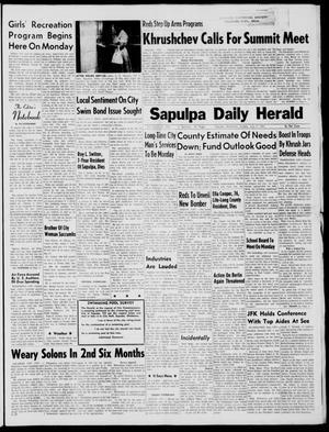 Primary view of Sapulpa Daily Herald (Sapulpa, Okla.), Vol. 46, No. 254, Ed. 1 Sunday, July 9, 1961