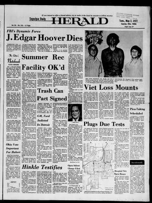 Primary view of Sapulpa Daily Herald (Sapulpa, Okla.), Vol. 58, No. 210, Ed. 1 Tuesday, May 2, 1972