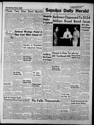 Primary view of Sapulpa Daily Herald (Sapulpa, Okla.), Vol. 48, No. 130, Ed. 1 Wednesday, February 13, 1963