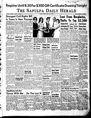 Primary view of object titled 'The Sapulpa Daily Herald (Sapulpa, Okla.), Vol. 49, No. 250, Ed. 1 Friday, June 19, 1964'.
