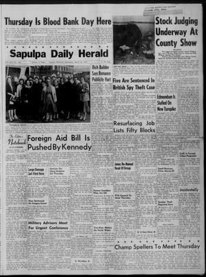 Primary view of Sapulpa Daily Herald (Sapulpa, Okla.), Vol. 46, No. 162, Ed. 1 Wednesday, March 22, 1961
