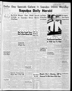Primary view of Sapulpa Daily Herald (Sapulpa, Okla.), Vol. 46, No. 28, Ed. 1 Sunday, October 16, 1960
