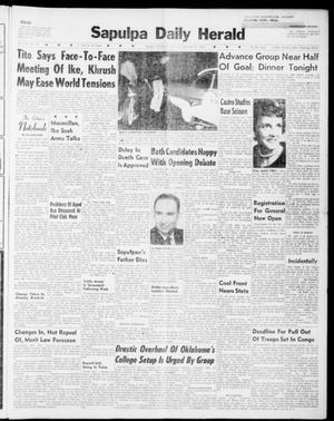 Primary view of Sapulpa Daily Herald (Sapulpa, Okla.), Vol. 46, No. 12, Ed. 1 Tuesday, September 27, 1960
