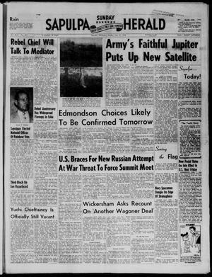 Primary view of Sapulpa Sunday Herald (Sapulpa, Okla.), Vol. 43, No. 277, Ed. 1 Sunday, July 27, 1958