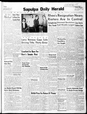 Primary view of Sapulpa Daily Herald (Sapulpa, Okla.), Vol. 45, No. 201, Ed. 1 Tuesday, April 26, 1960