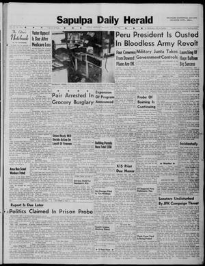 Primary view of Sapulpa Daily Herald (Sapulpa, Okla.), Vol. 47, No. 263, Ed. 1 Wednesday, July 18, 1962