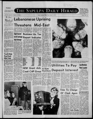 Primary view of The Sapulpa Daily Herald (Sapulpa, Okla.), Vol. 56, No. 47, Ed. 1 Friday, October 24, 1969