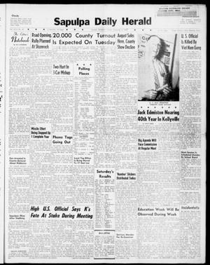 Primary view of Sapulpa Daily Herald (Sapulpa, Okla.), Vol. 46, No. 46, Ed. 1 Sunday, November 6, 1960